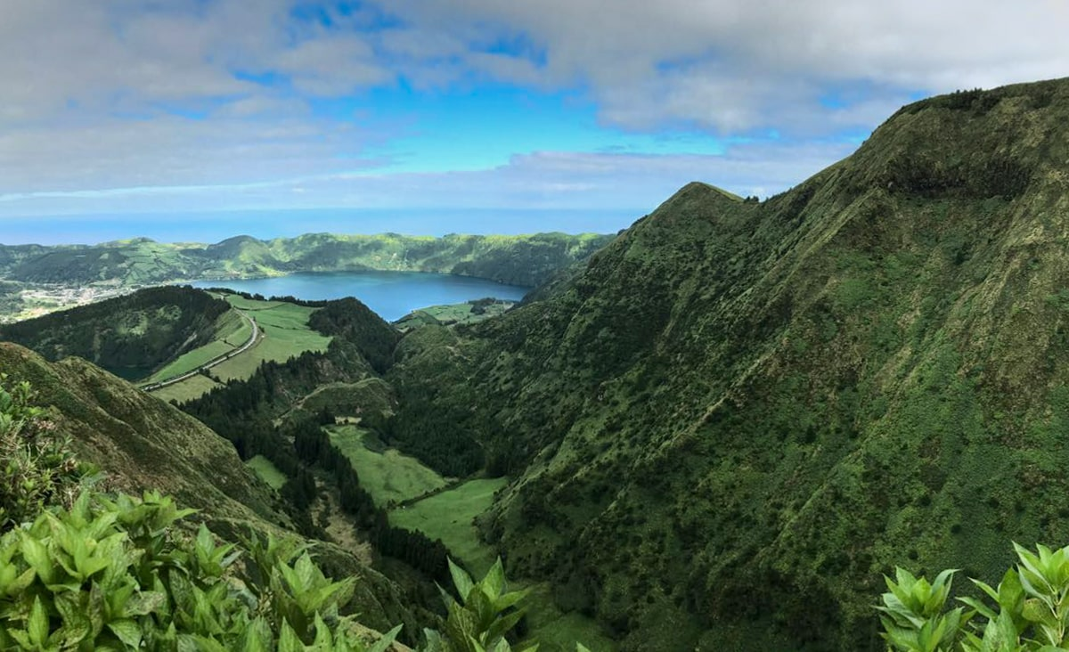 sete cidades on sao miguel in the azores