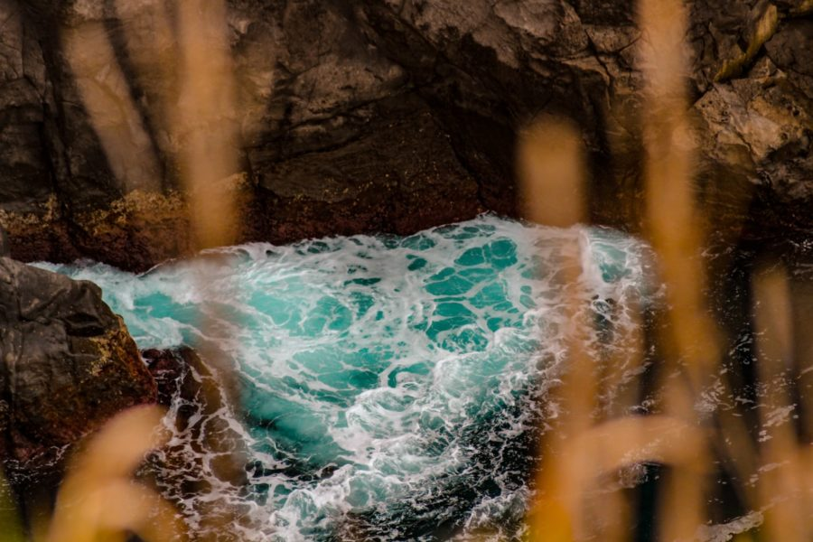 teal water on azores in sao miguel