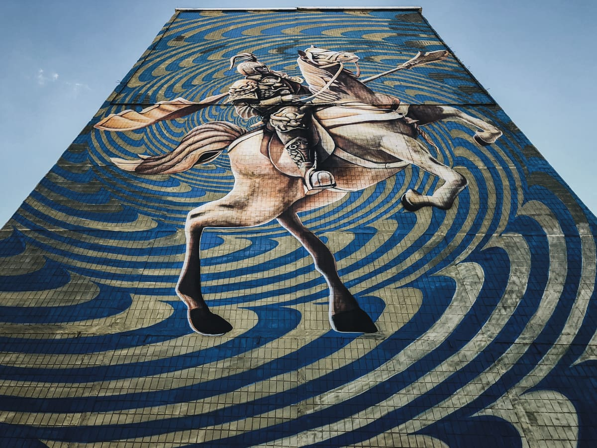 urban street art in astana kazakhstan