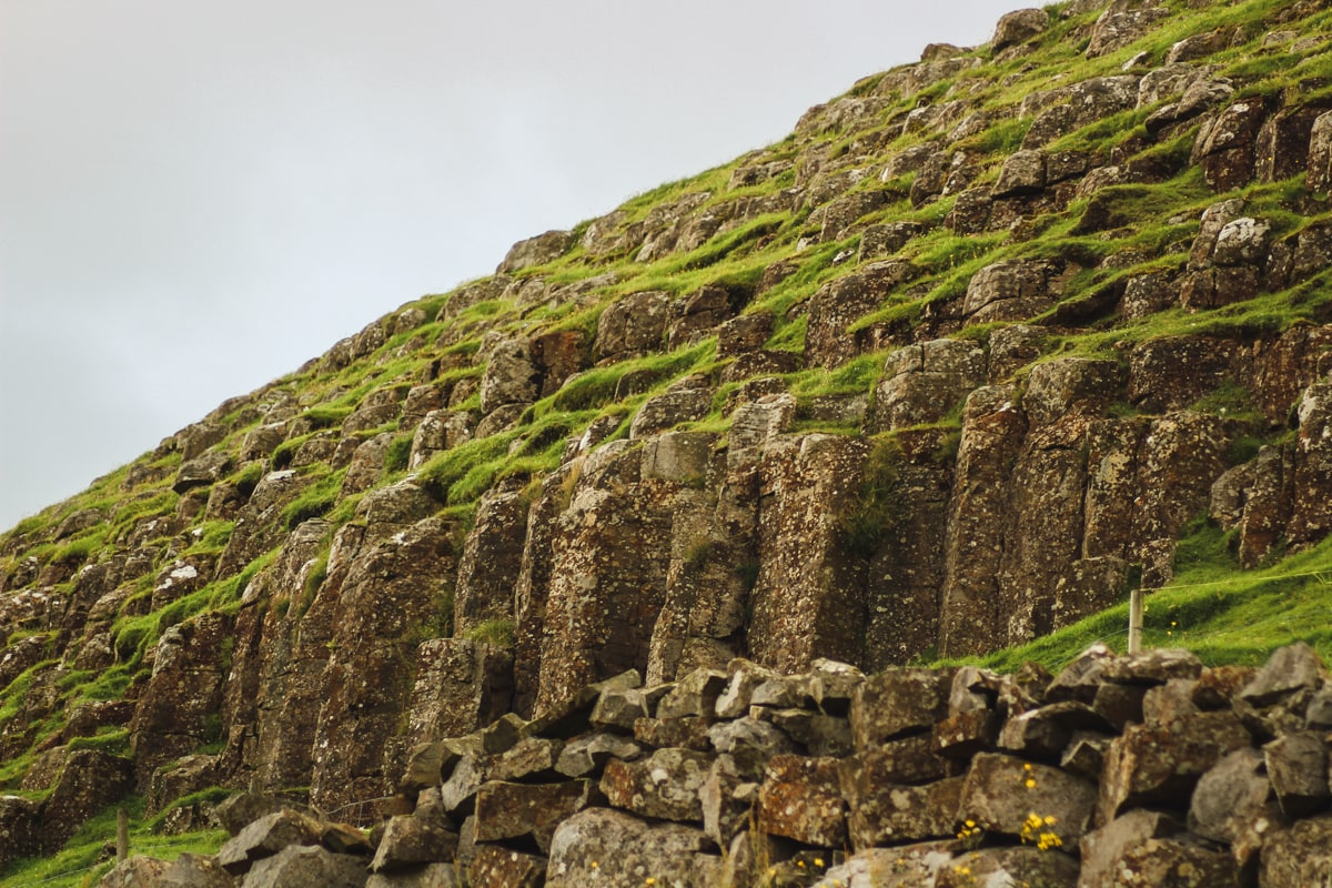 basalt columns on suduroy near frodba