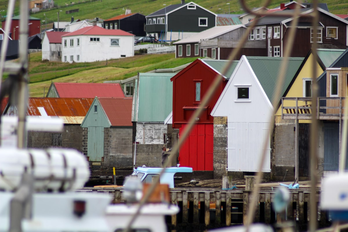 the harbor in Tvøroyri