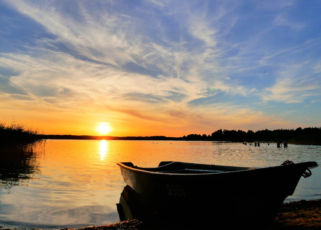 Berezhe lake Braslaw Belarus
