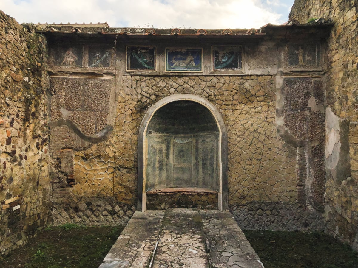 Herculaneum Italy - Ercolano Italy UNESCO World Heritage ruined by Vesuvius-3