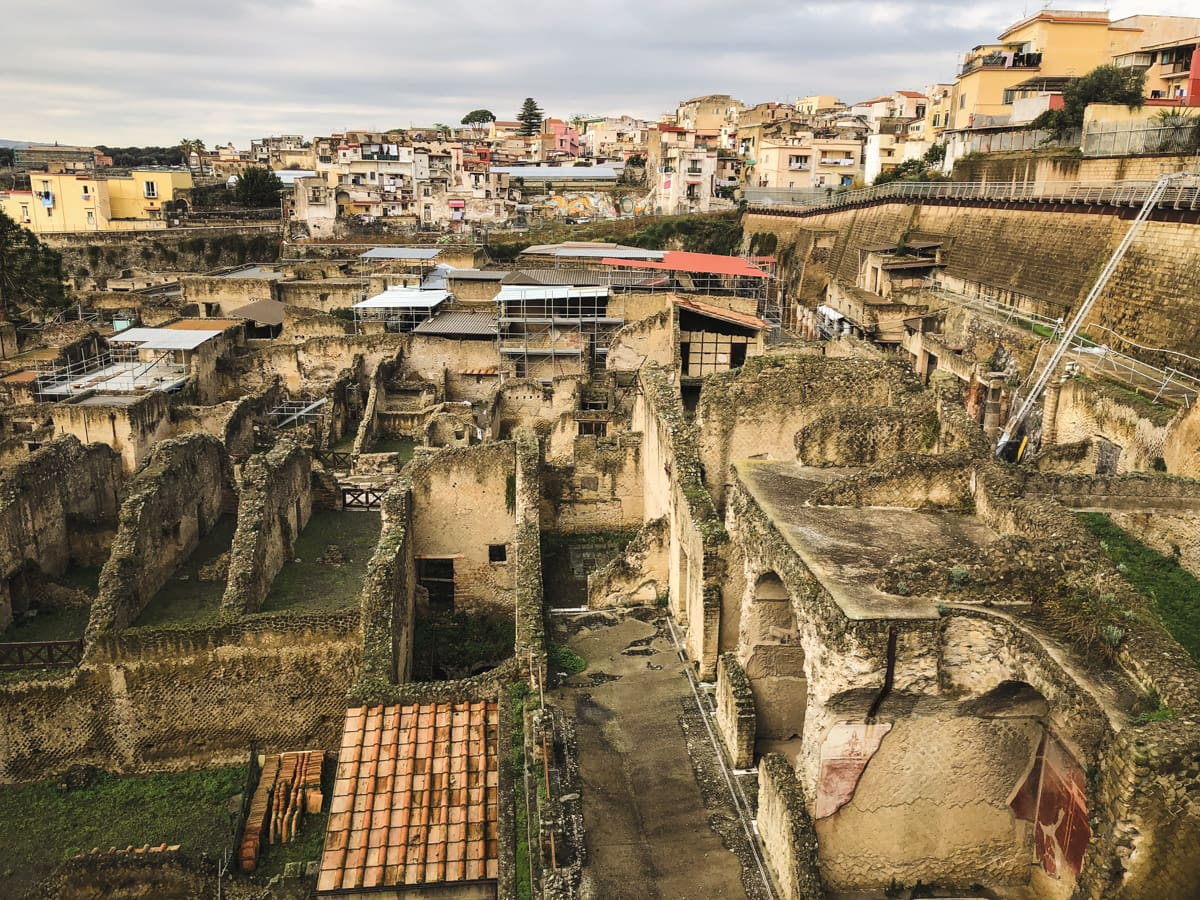 Herculaneum Italy - Ercolano Italy UNESCO World Heritage ruined by Vesuvius-37