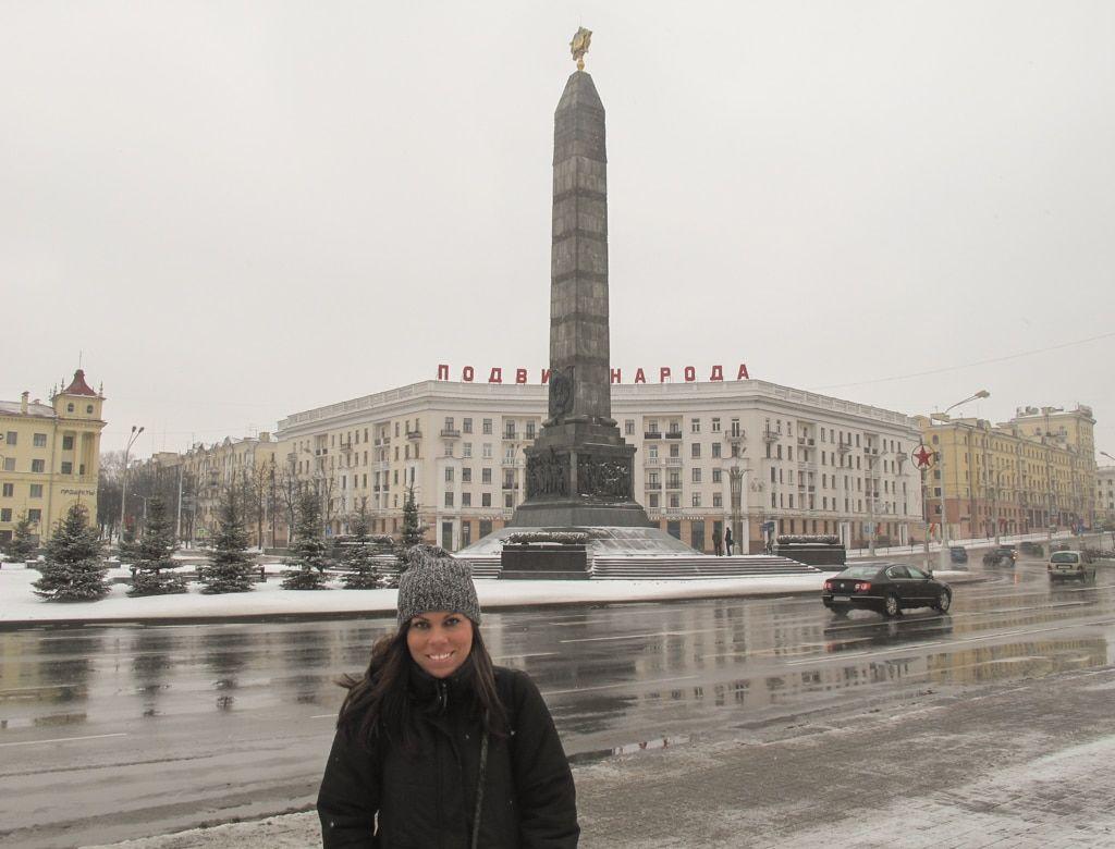 me in minsk belarus freedom square