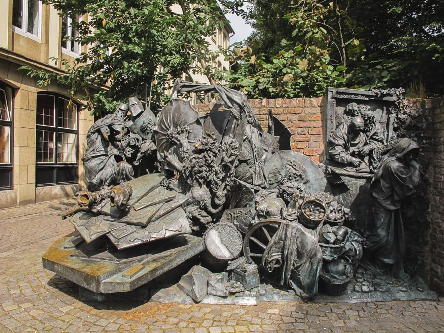 Dusseldorf Germany-Monument of Grant Privileges