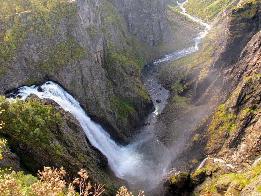 best day trips from Bergen Norway vøringsfossen waterfall