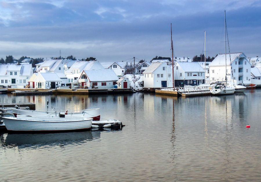 skudeneshavn norway in winter