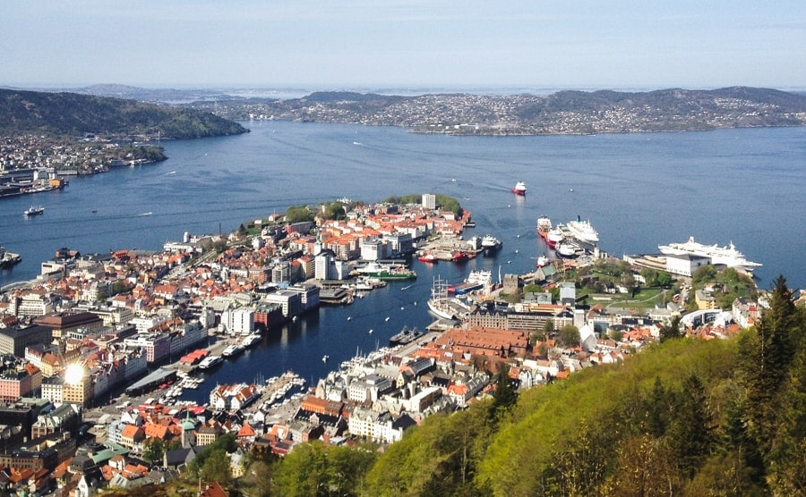 things to do in bergen norway view from fløyen