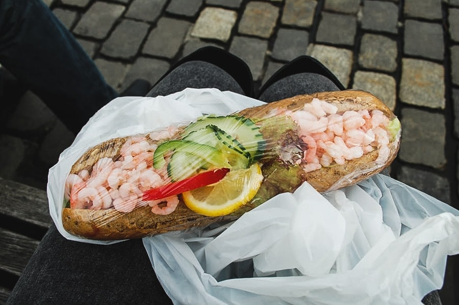 things to do in bergen norway reker og majones (shrimp and mayonnaise) smørbrød