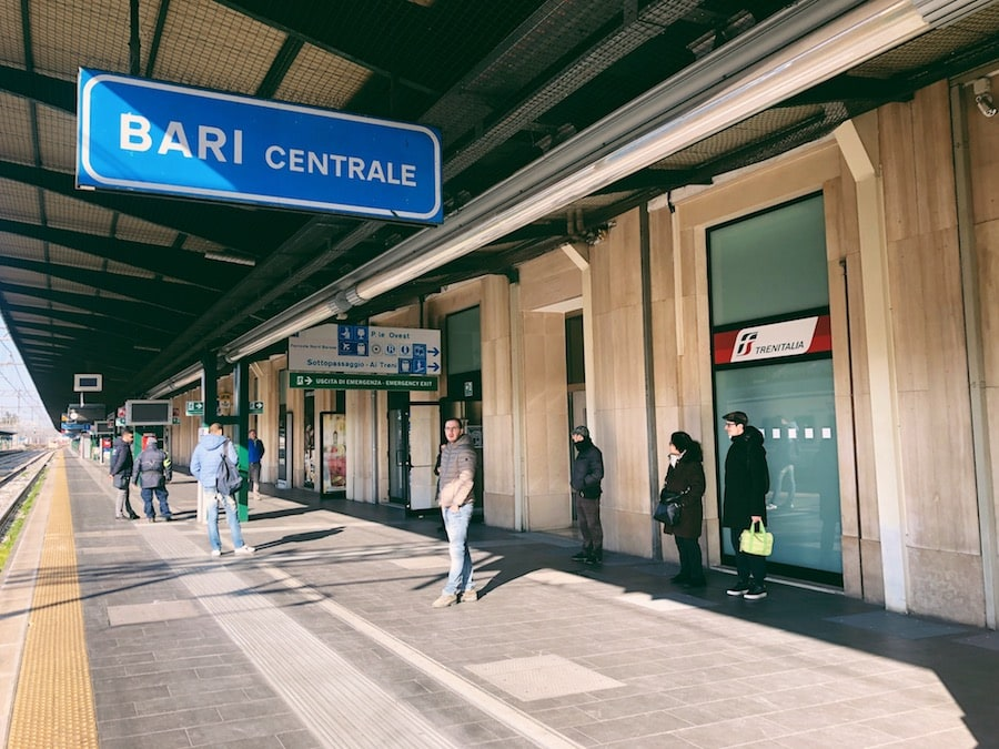 how to get from bari to polignano a mare cheaply by train bari centrale