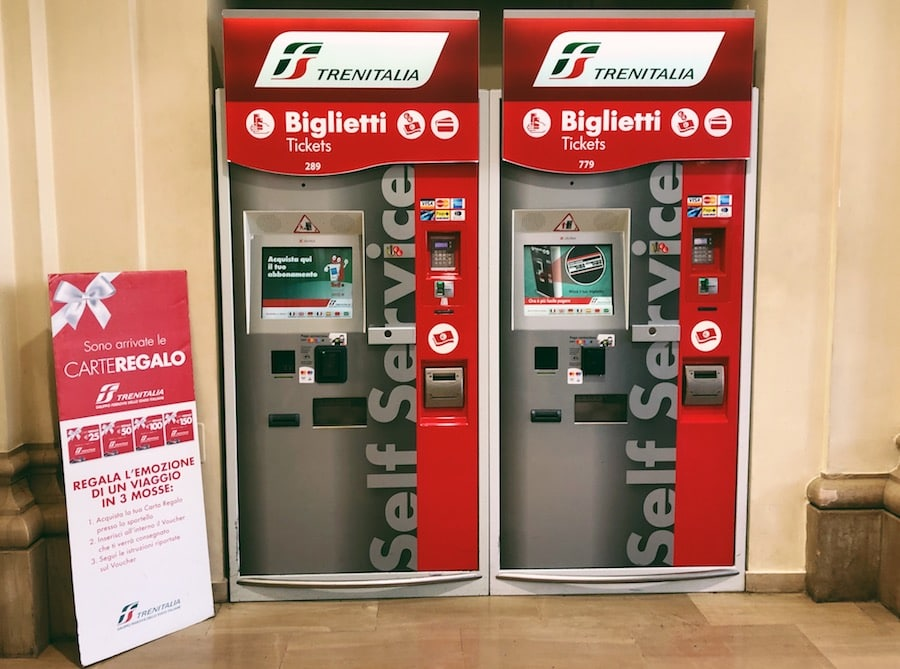 how to get from bari to polignano a mare cheaply by train ticket machines