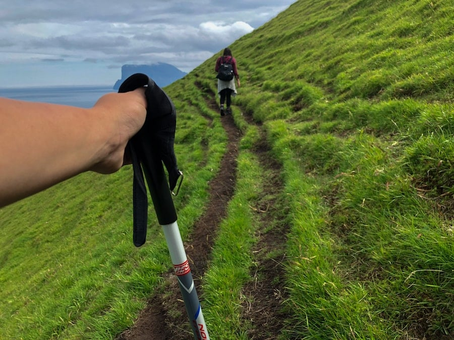hiking poles used in faroe islands-min