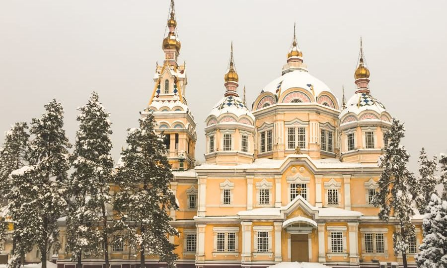 Ascension Cathedral (Zenkov) during winter: Almaty Kazakhstan - One day in Almaty itinerary (layover guide)-11
