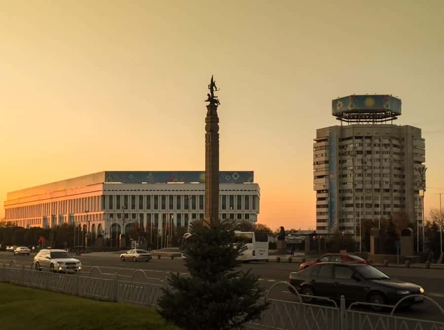 Republic Square in Almaty Kazakhstan - One day in Almaty itinerary (layover guide)-4