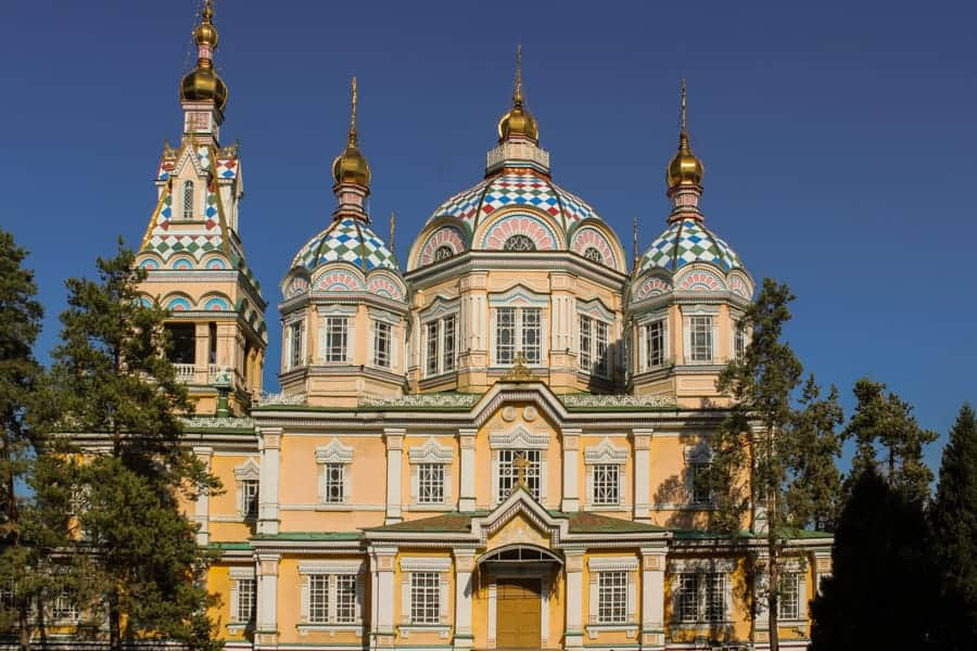 Ascension Cathedral (Zenkov) during summer: Almaty Kazakhstan - One day in Almaty itinerary (layover guide)-11
