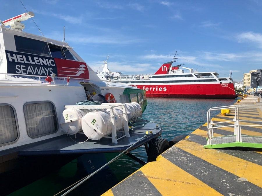 How to get the Athens to Aegina ferry from Piraeus