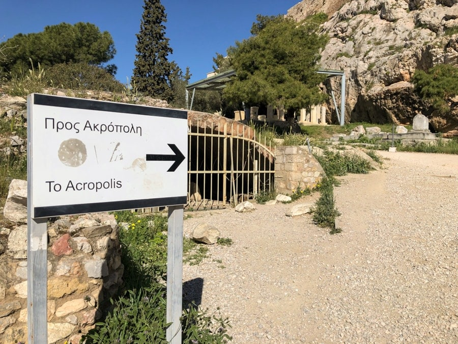 signs at acropolis athens