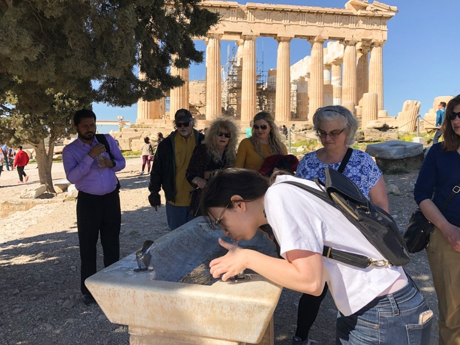 what to know before visiting the acropolis-19-min water fountain at acropolis