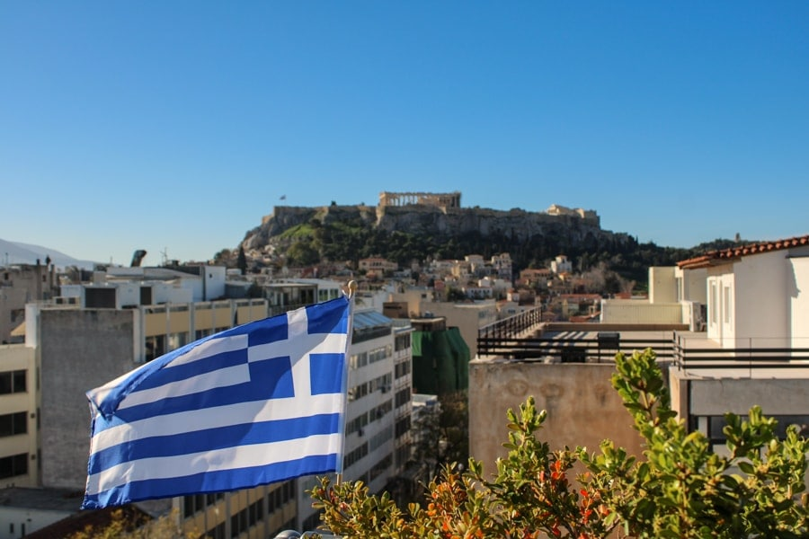 attalos hotel view of the acropolis