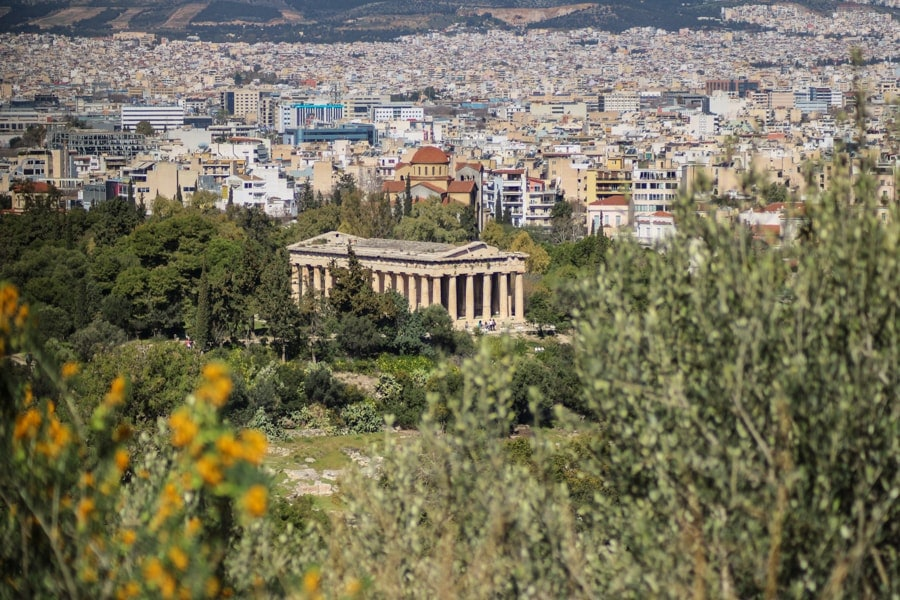 views from the acropolis in athens