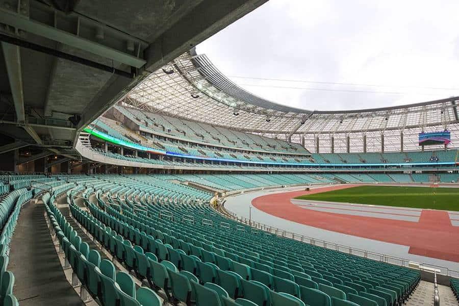baku olympic stadium in baku azerbaijan