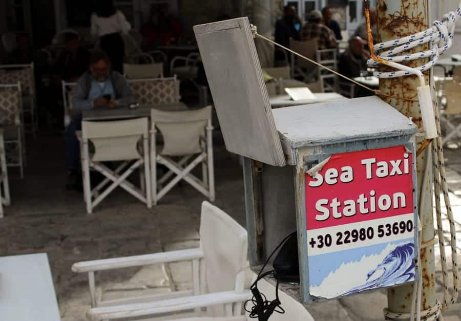 Water taxi station in Hydra Greece (things to do in Hydra Island, Greece)-17