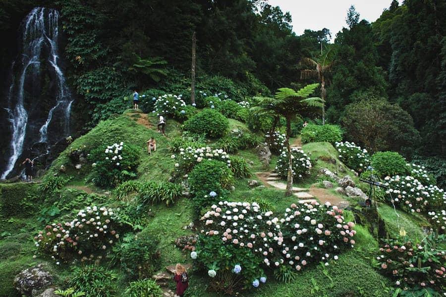 Parque Natural da Ribeira dos Caldeiroes azores itinerary