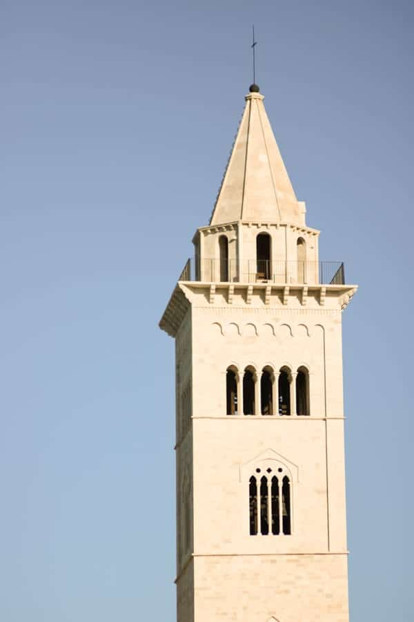 Trani Cathedral bell tower in Italy