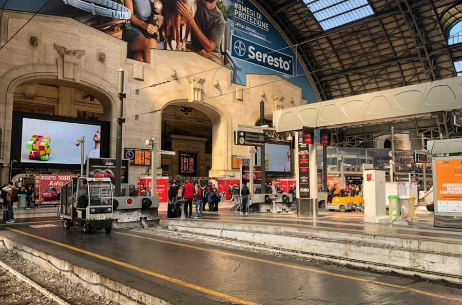 Milan Central Train Station, Italy