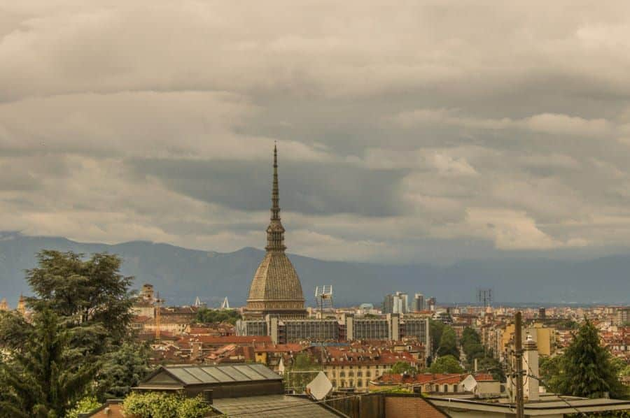 View over Turin, Italy / How to get from Milan to Turin