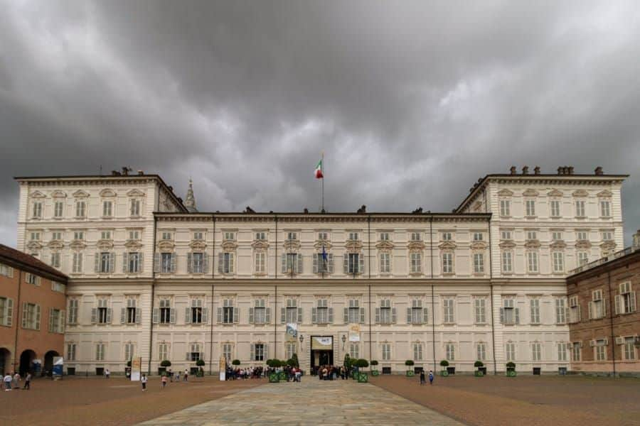 royal palace of turin, italy / traveling from milan to turin