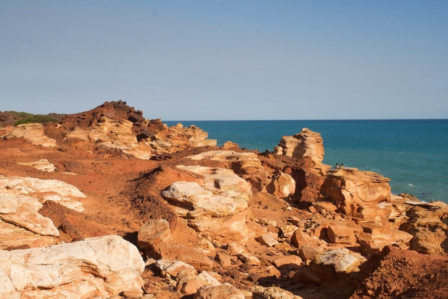 The red rocks of Gantheaume Point - A perfect place for your Broome itinerary