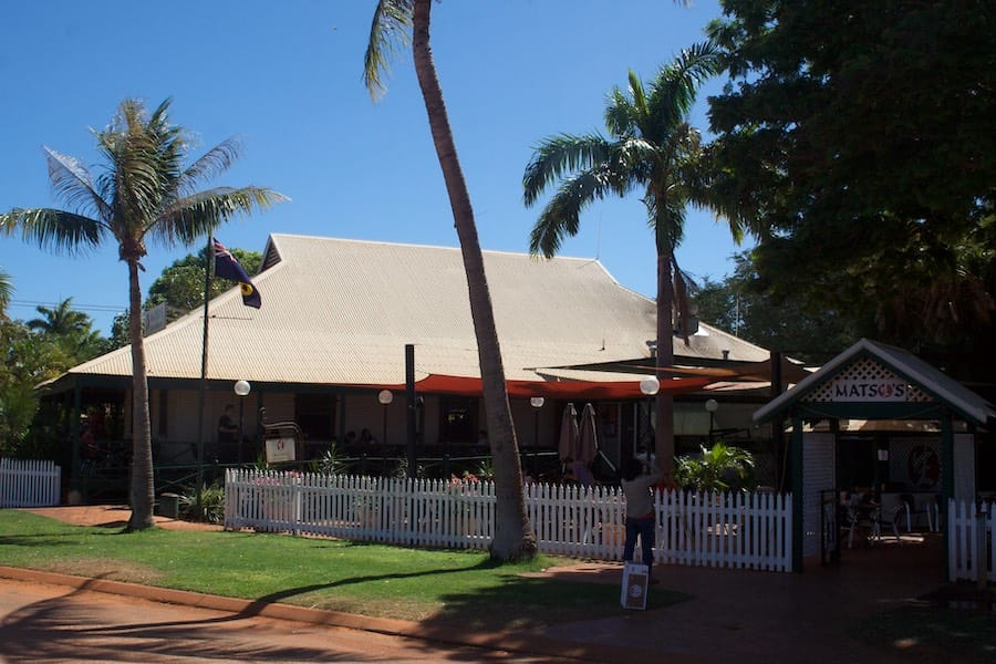 Matso's Brewery in a sprawling old Broome house