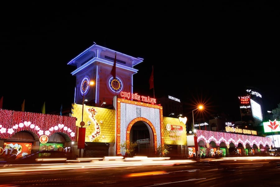Ben Thanh Night Market in Saigon