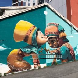 bright street art in bodo norway