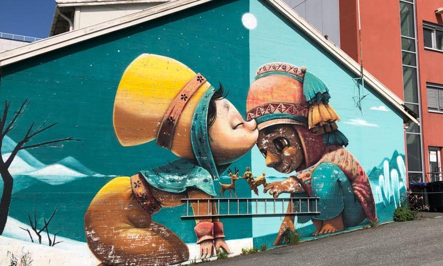 bright street art in bodo norway