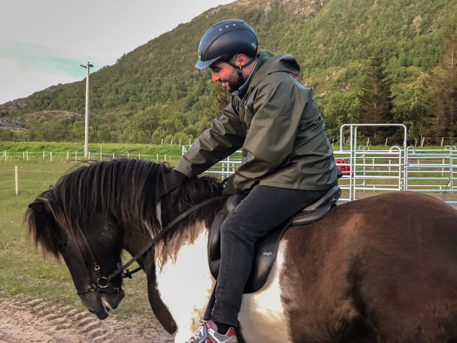 horseback riding in lofoten islands norway