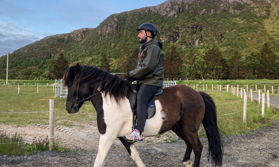 horseback riding lofoten islands in norway