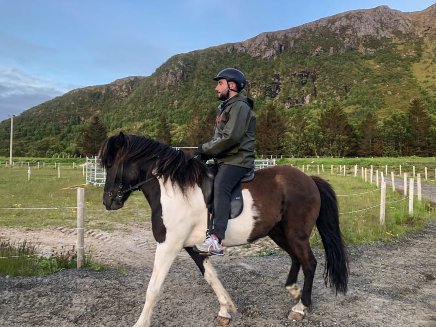 horseback riding lofoten islands in norway