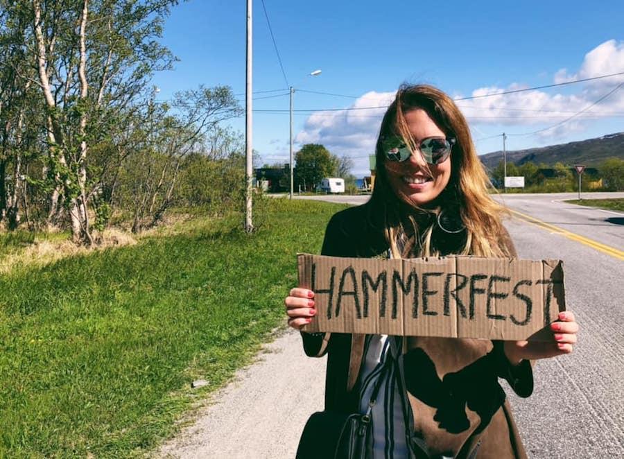 hitchhiking to hammerfest norway
