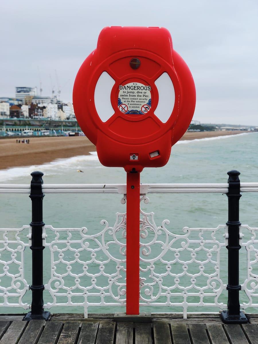 Sea front in Brighton, England