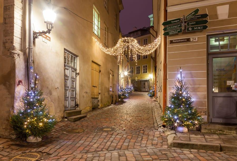 Tallinn Old Town during Christmas