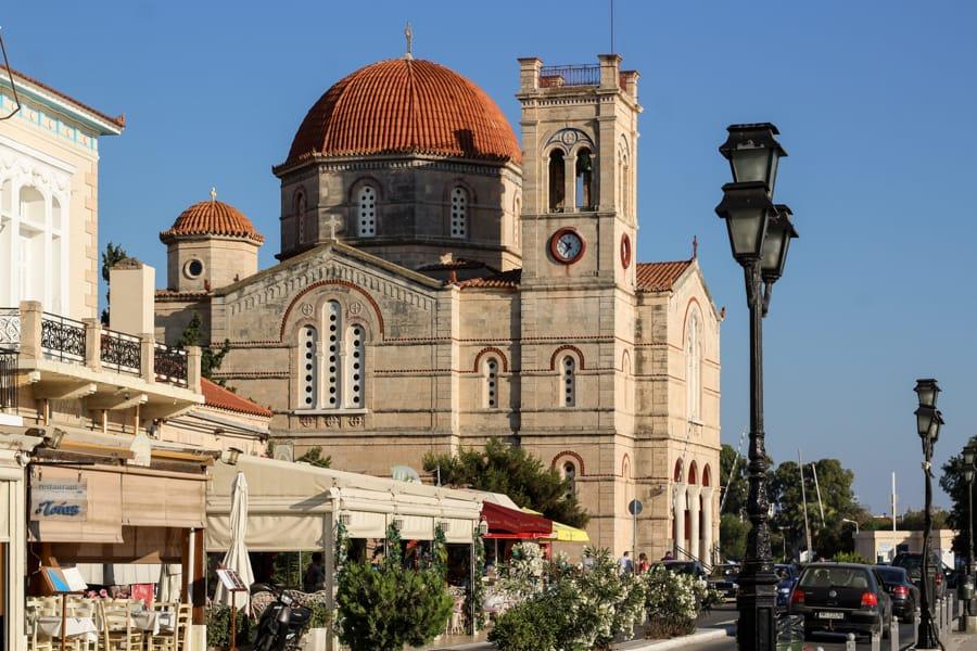 church in aegina greece