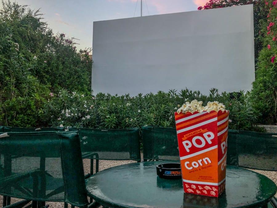 open air cinema in aegina