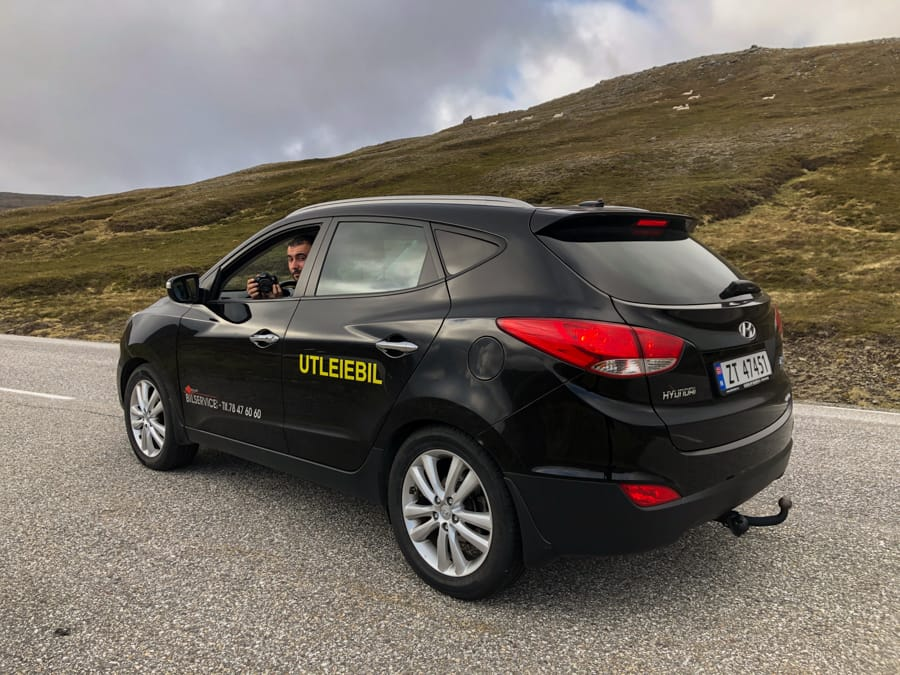 Our rental car in Honningsvåg, Norway (What to do in Honningsvåg - Nordkapp)