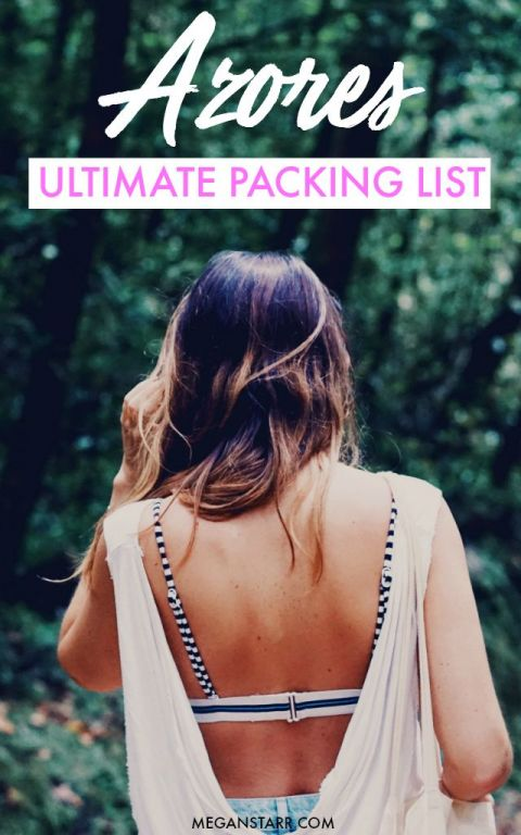 This is the ultimate Azores packing guide for those looking for what to pack for the Azores... all seasons!