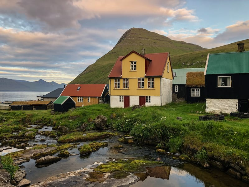 Gjogv on Eysturoy in Faroe Islands