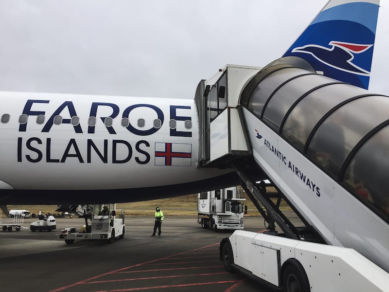 Things to know before you visit the Faroe Islands: Atlantic Airways plane in Vagar