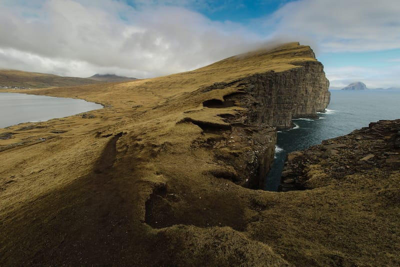Sørvágsvatn on Vagar in Faroe Islands